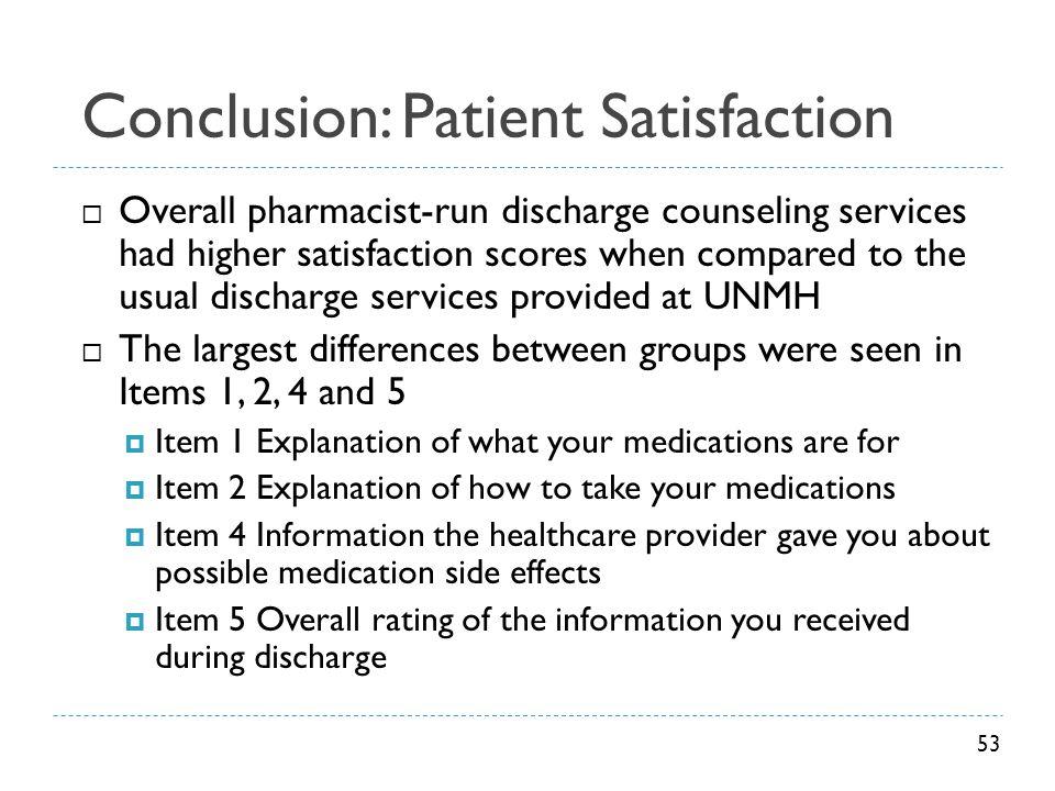Conclusion: Patient Satisfaction