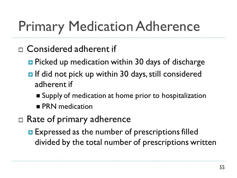 Primary Medication Adherence