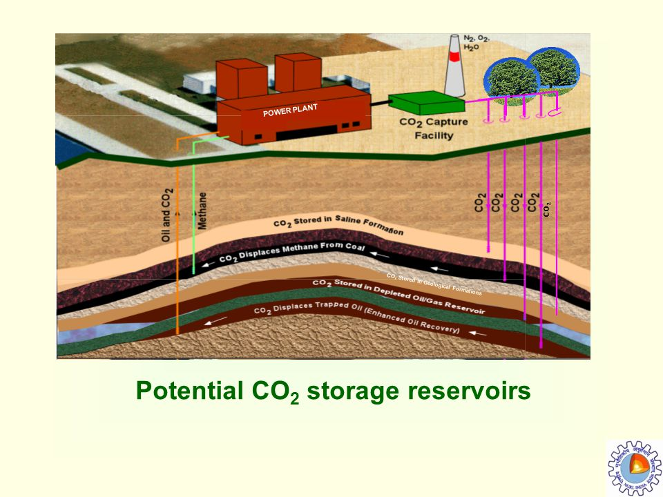 Potential CO2 storage reservoirs
