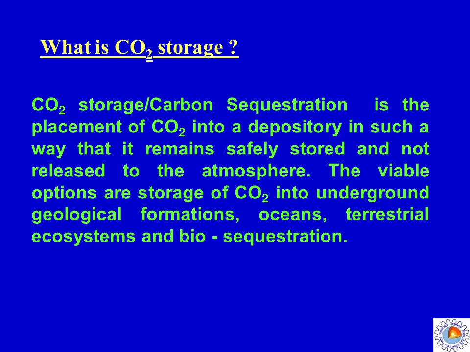 What is CO2 storage
