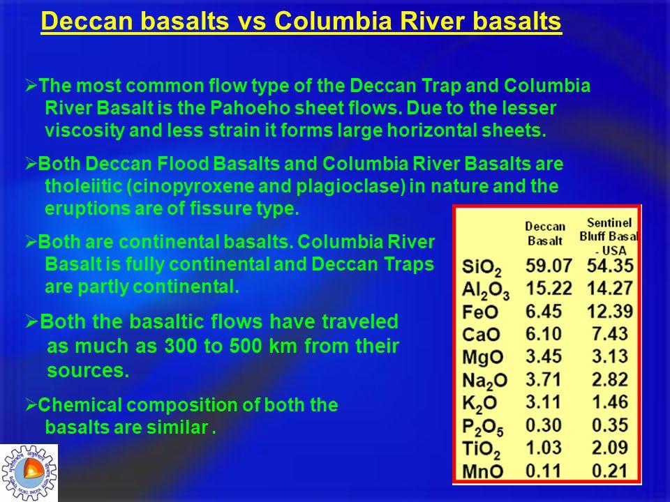 Deccan basalts vs Columbia River basalts