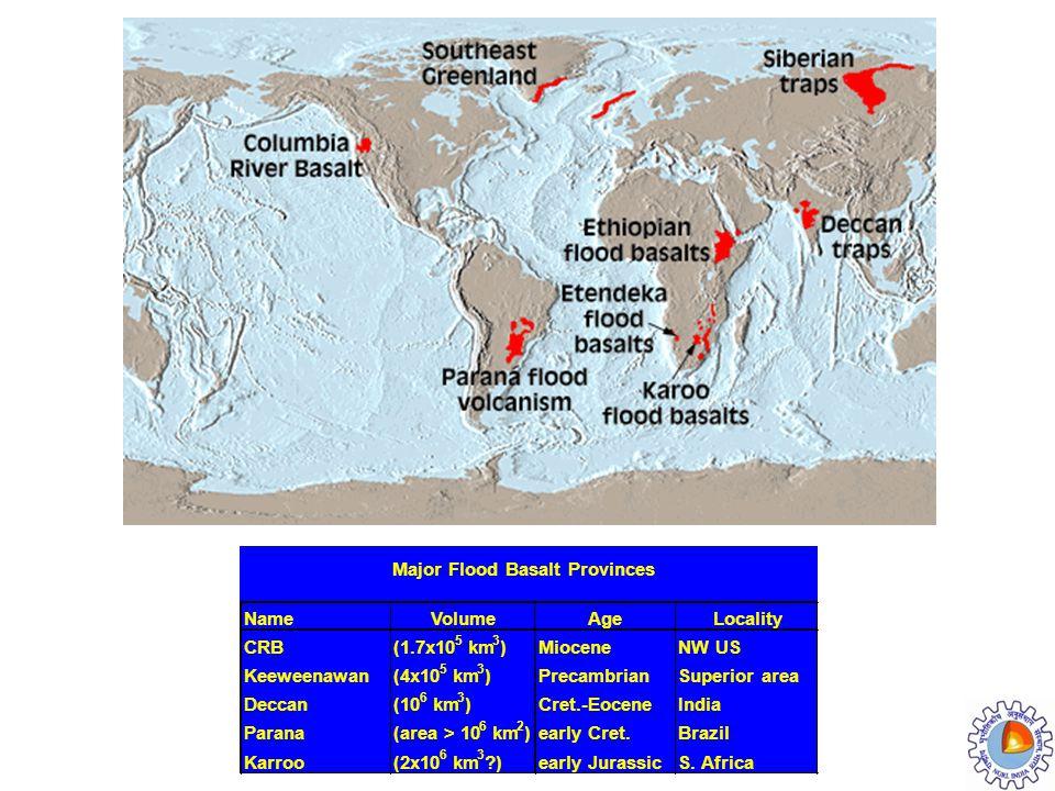 Major Flood Basalt Provinces