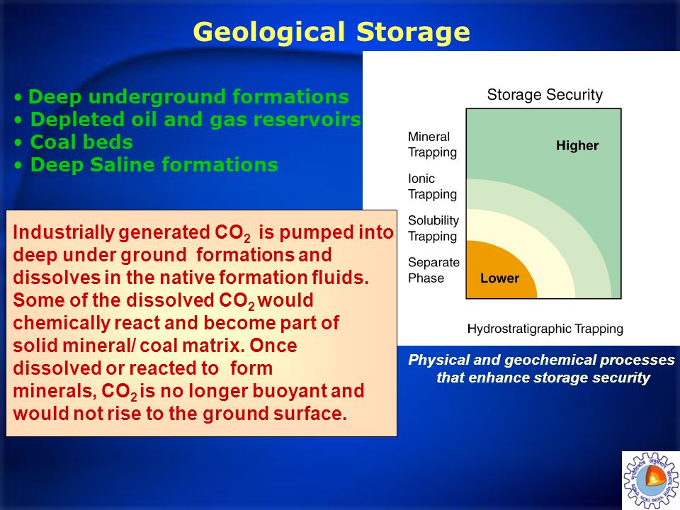 Physical and geochemical processes that enhance storage security