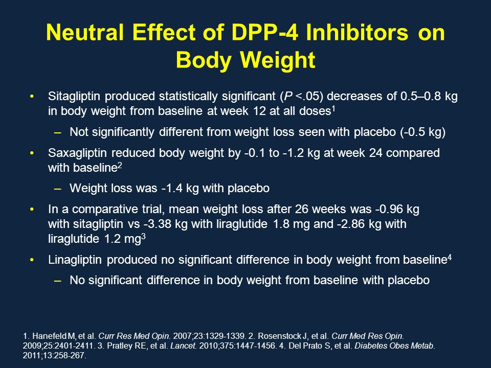 Neutral Effect of DPP-4 Inhibitors on Body Weight