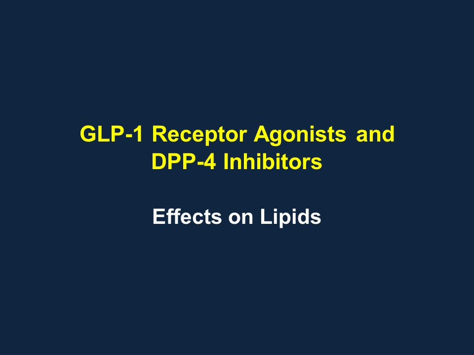 GLP-1 Receptor Agonists and DPP-4 Inhibitors