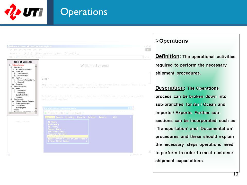 Operations Operations