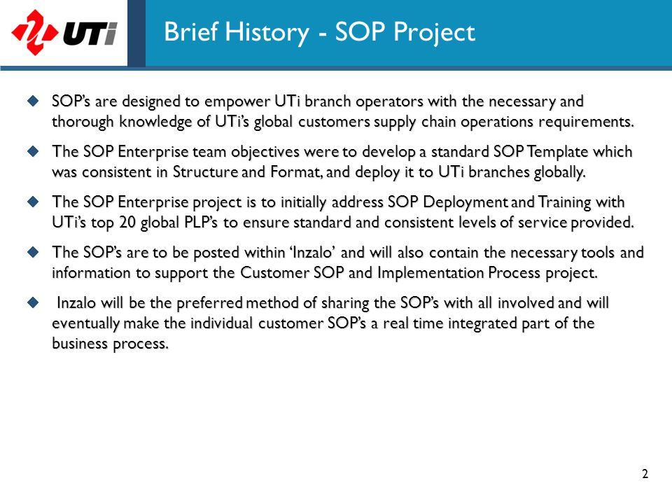 Brief History - SOP Project