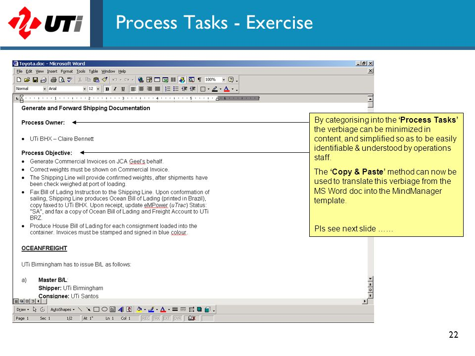 Process Tasks - Exercise