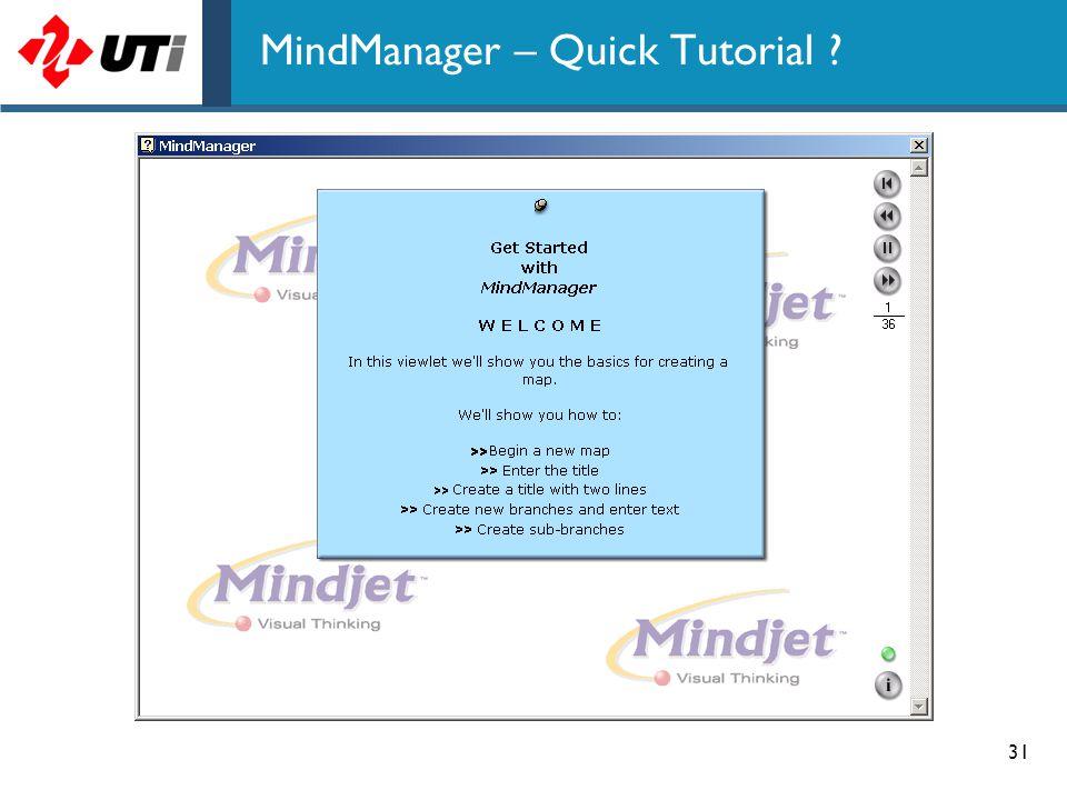 MindManager – Quick Tutorial