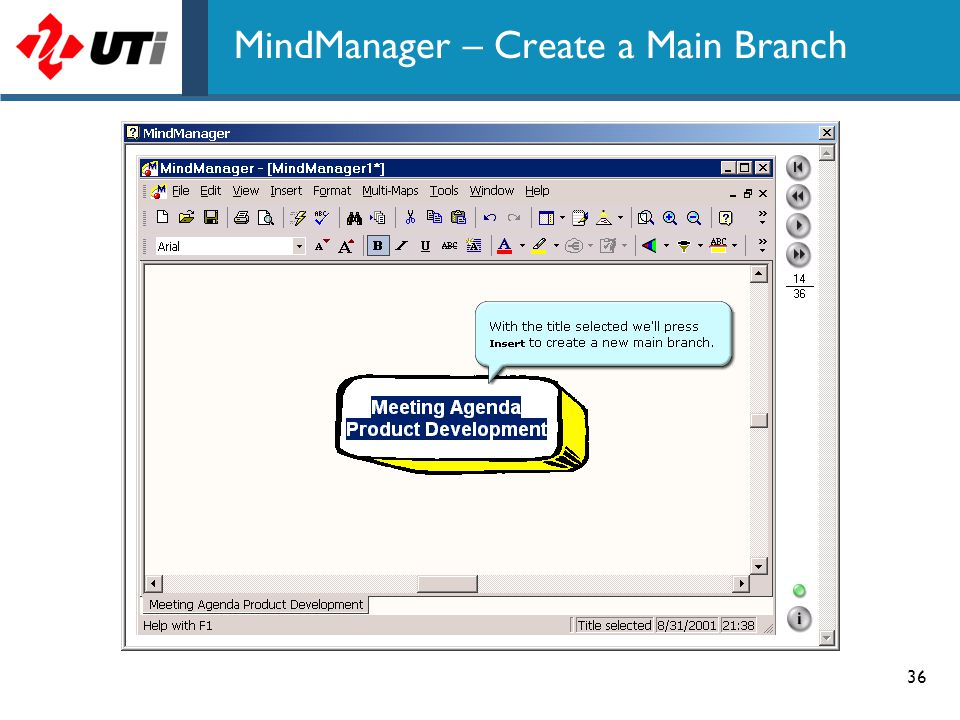 MindManager – Create a Main Branch