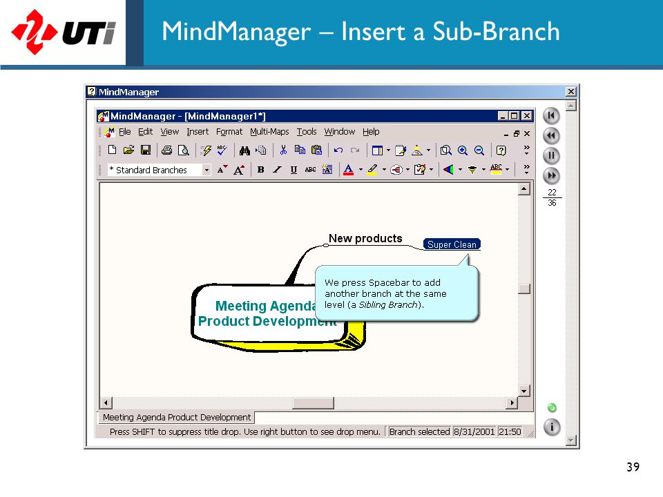MindManager – Insert a Sub-Branch