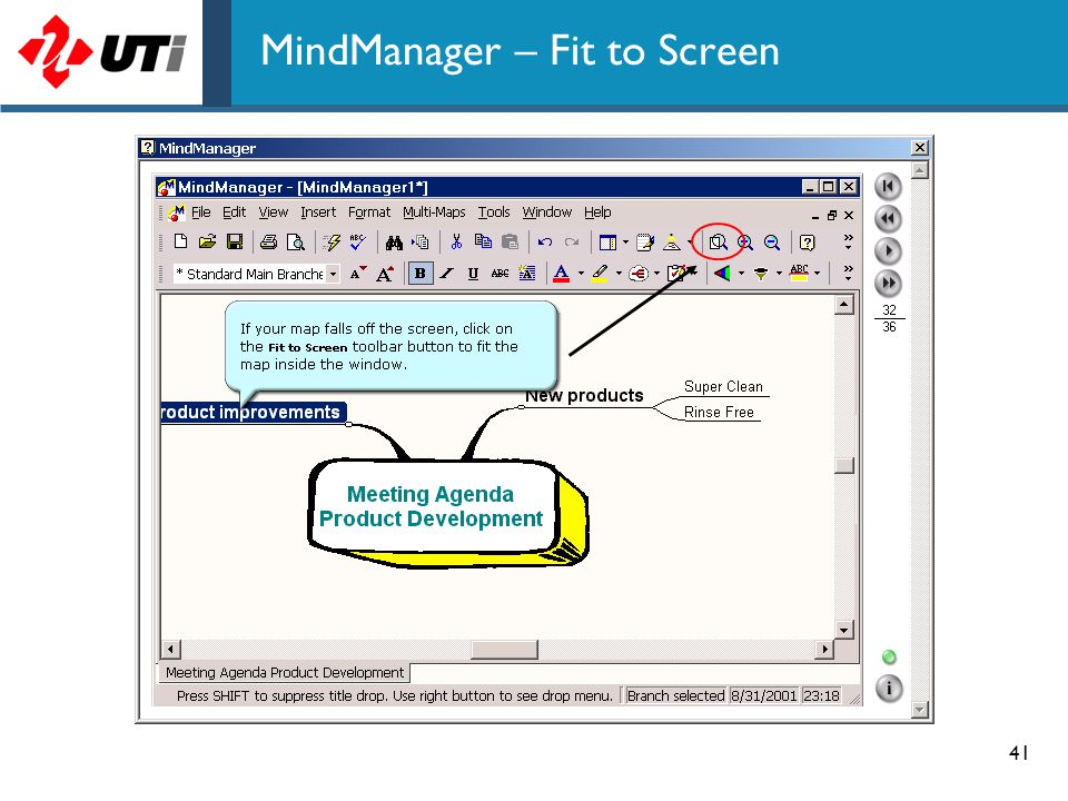 MindManager – Fit to Screen