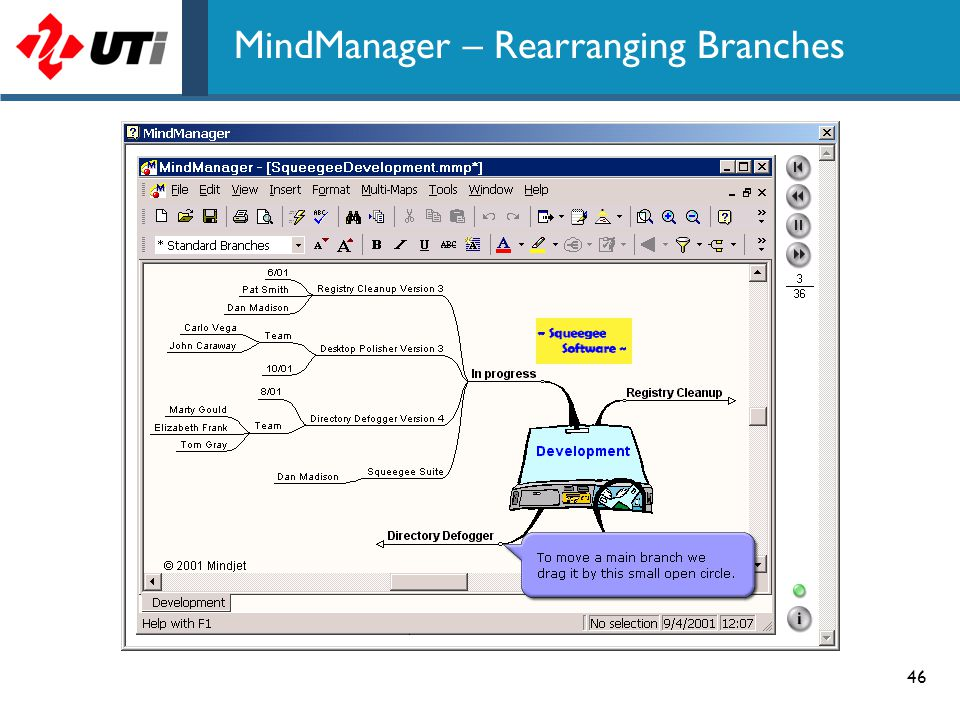 MindManager – Rearranging Branches
