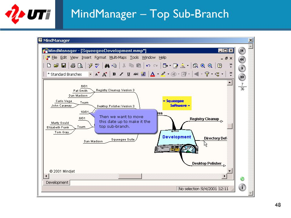 MindManager – Top Sub-Branch