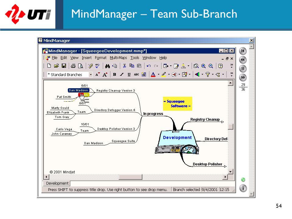 MindManager – Team Sub-Branch