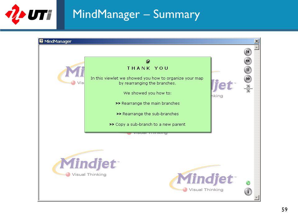 MindManager – Summary