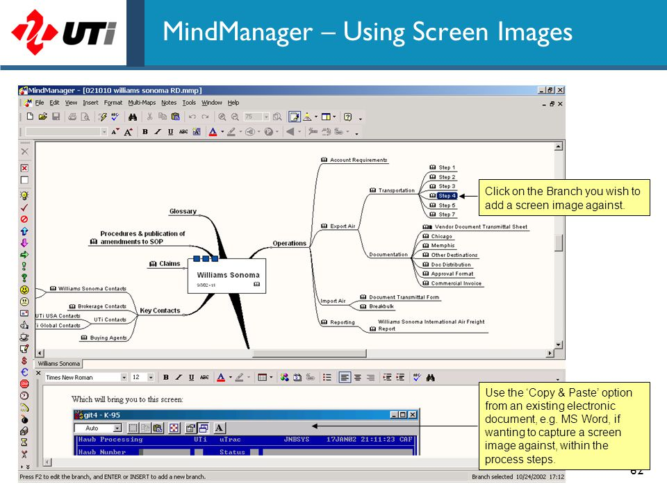 MindManager – Using Screen Images