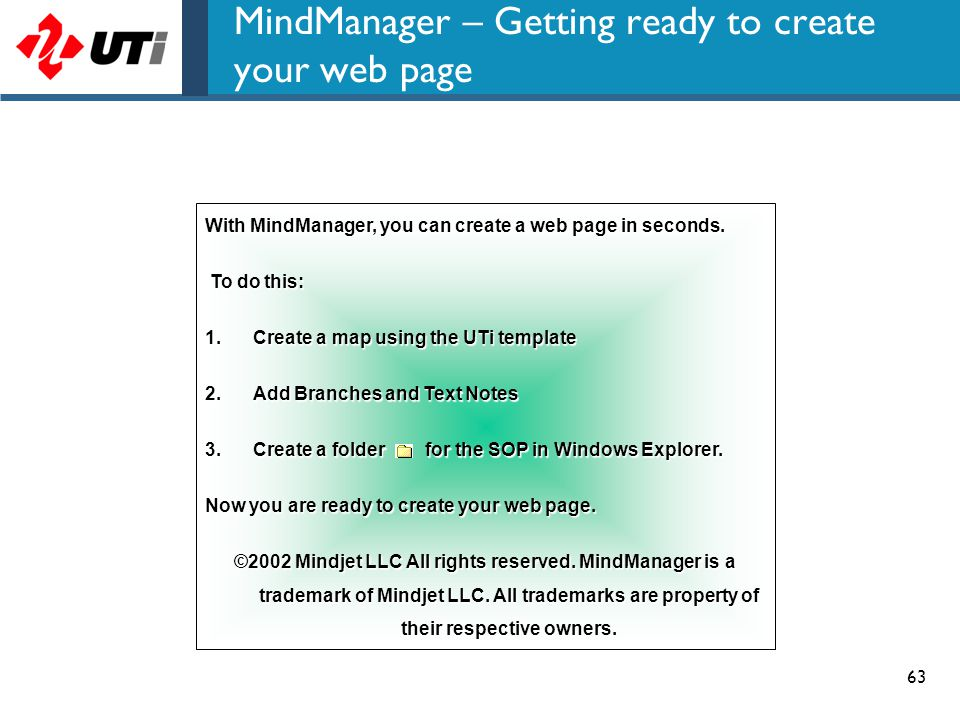 MindManager – Getting ready to create your web page