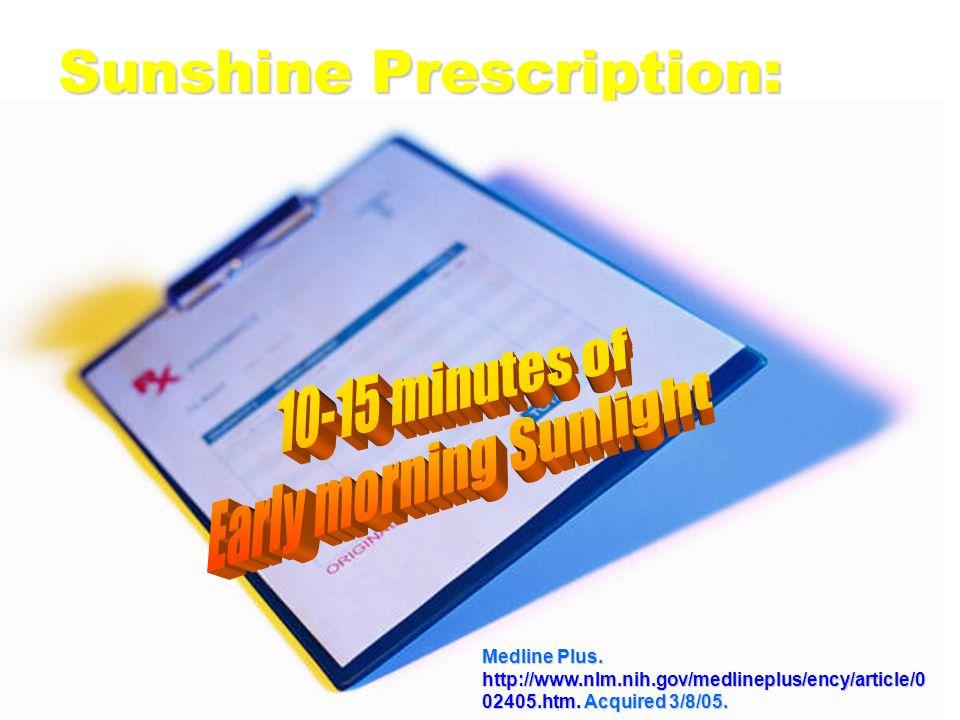 Sunshine Prescription: