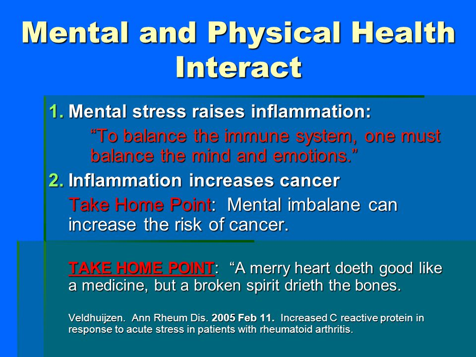 Mental and Physical Health Interact