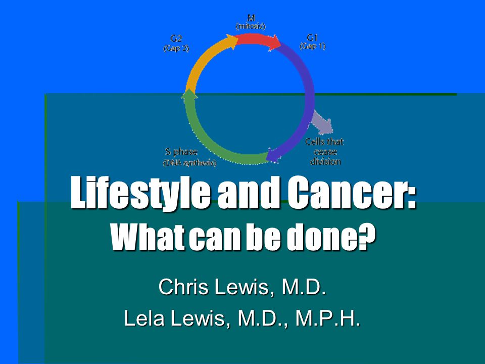 Lifestyle and Cancer: What can be done