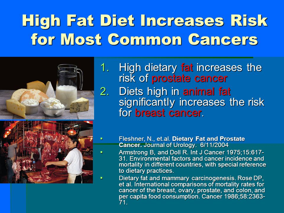 High Fat Diet Increases Risk for Most Common Cancers