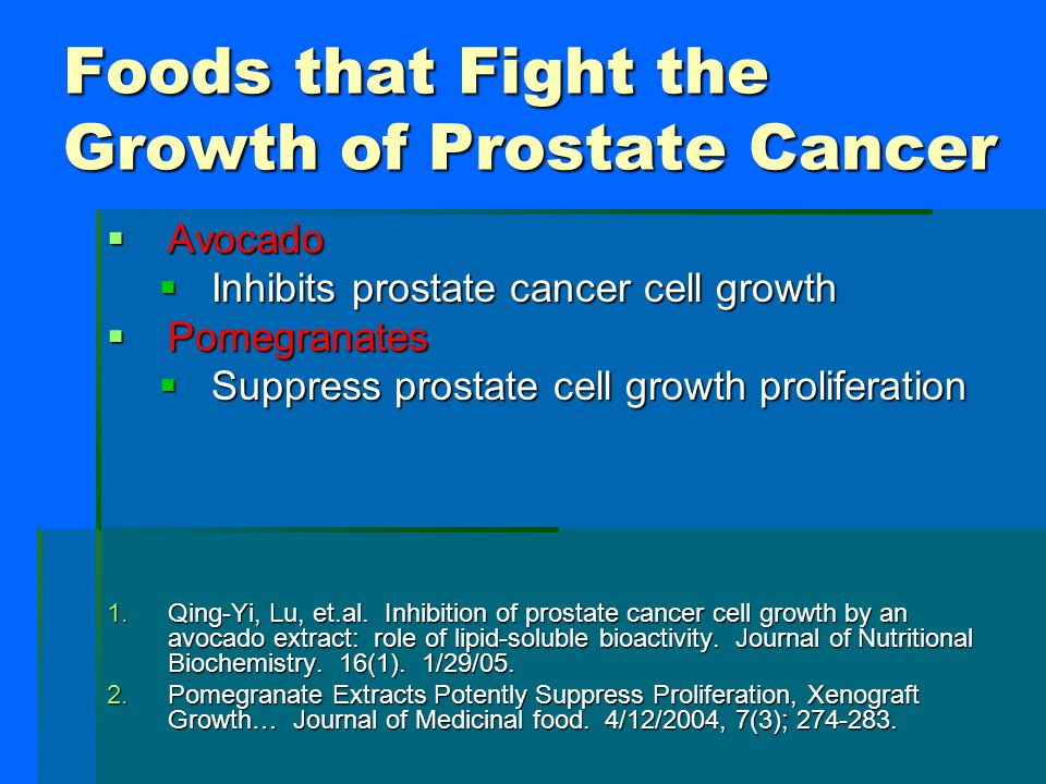 Foods that Fight the Growth of Prostate Cancer