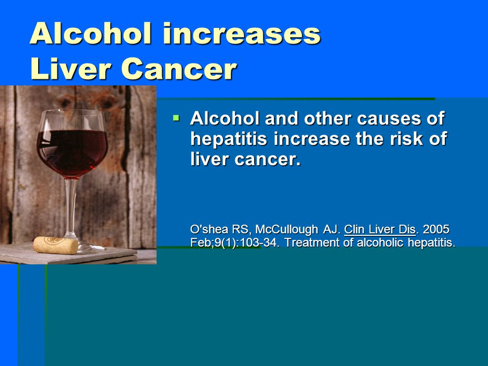 Alcohol increases Liver Cancer