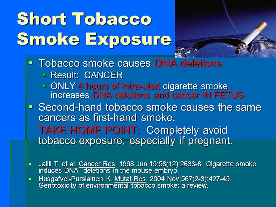 Short Tobacco Smoke Exposure