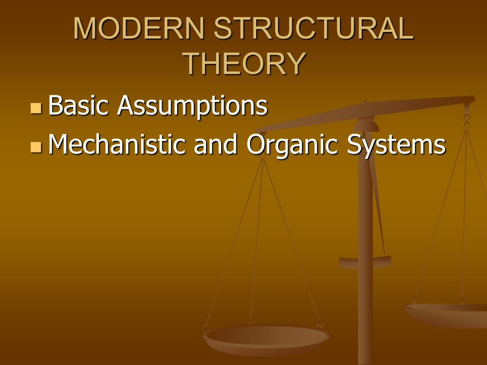 MODERN STRUCTURAL THEORY
