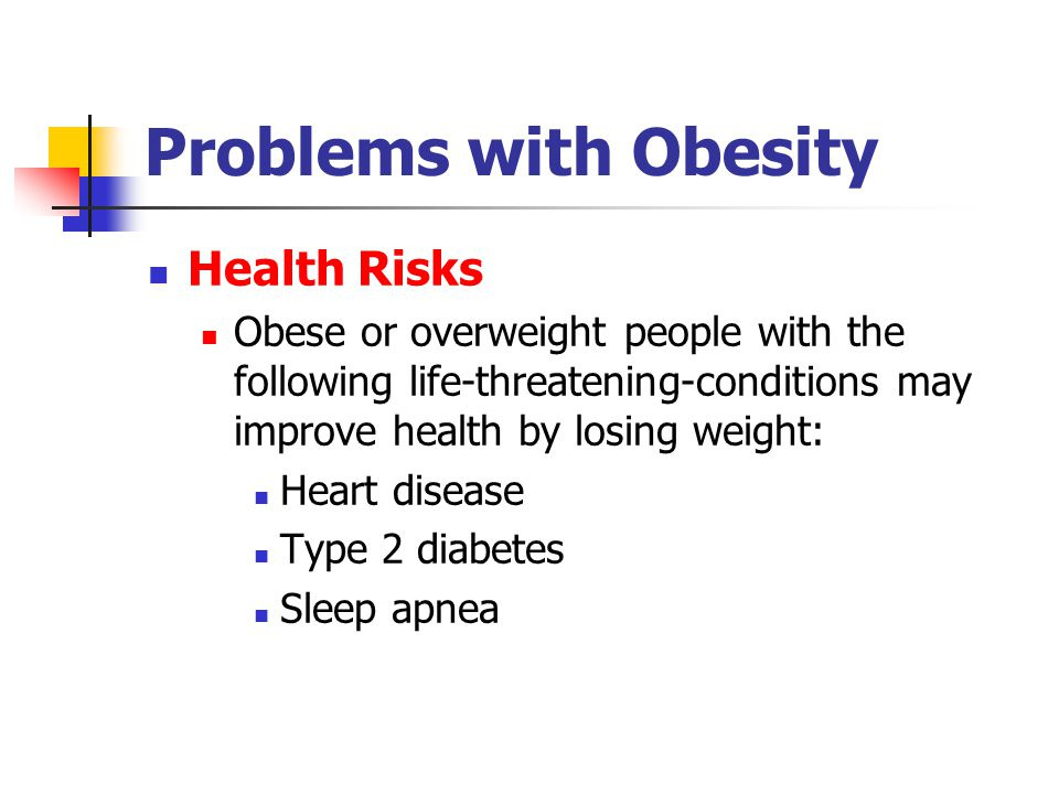 Problems with Obesity Health Risks