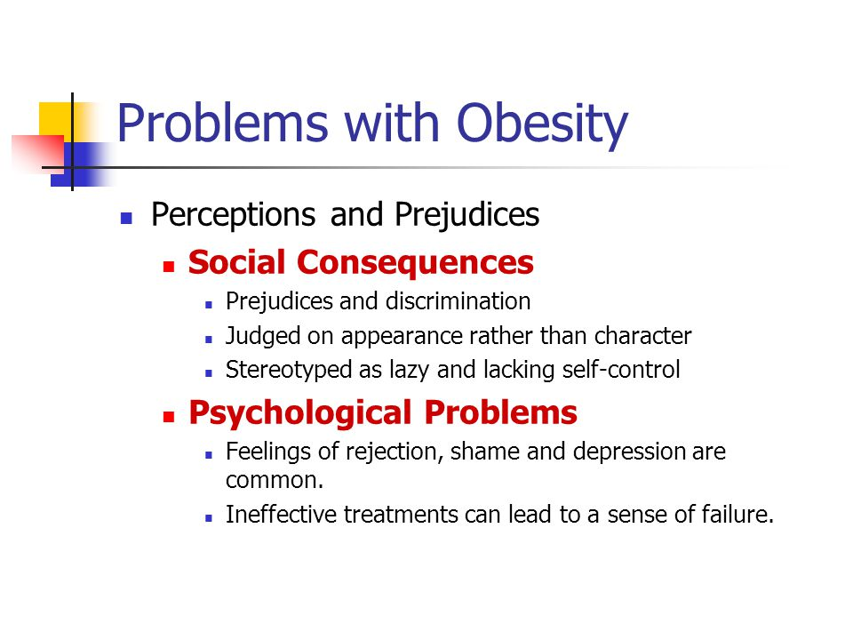 Problems with Obesity Perceptions and Prejudices Social Consequences