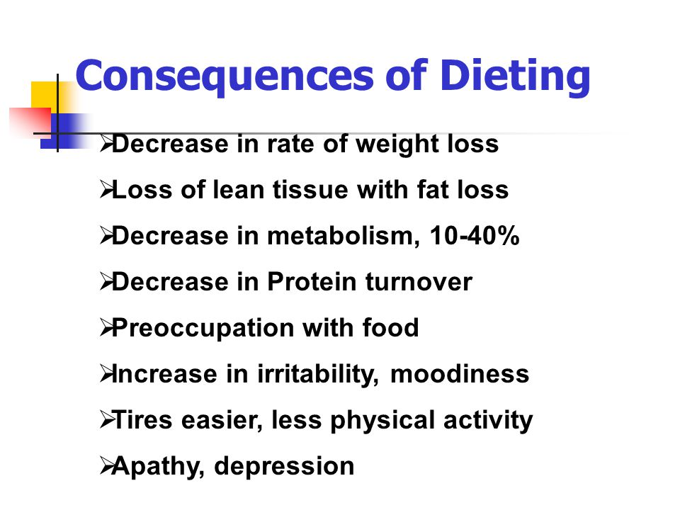 Consequences of Dieting