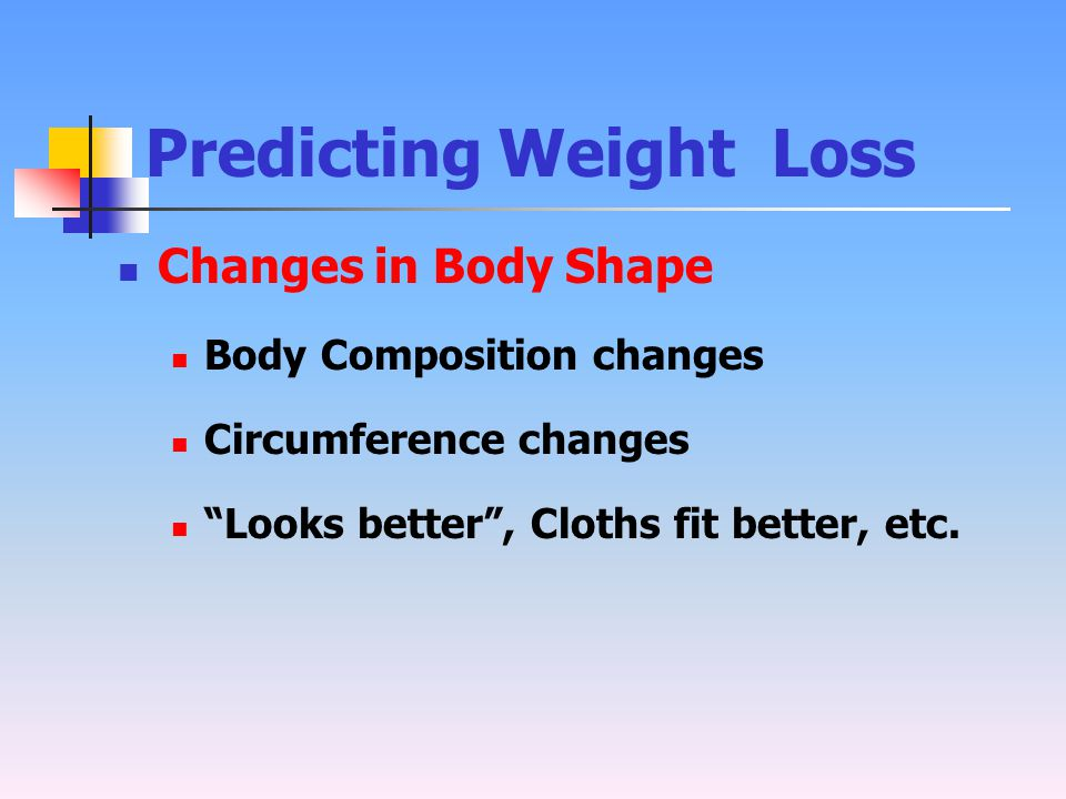 Predicting Weight Loss
