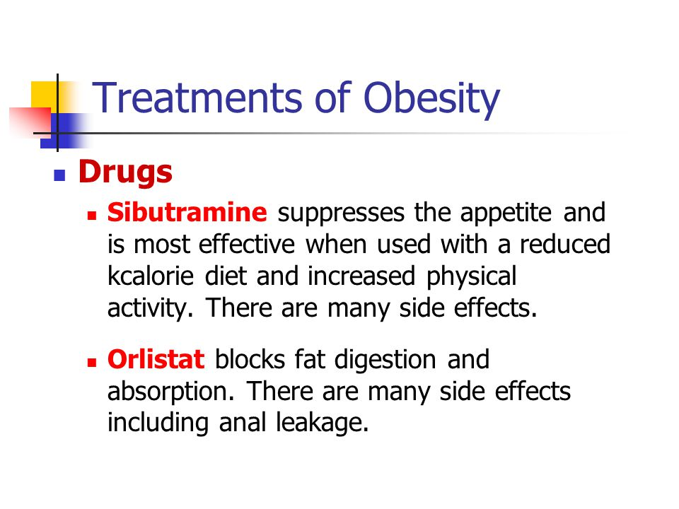 Treatments of Obesity Drugs