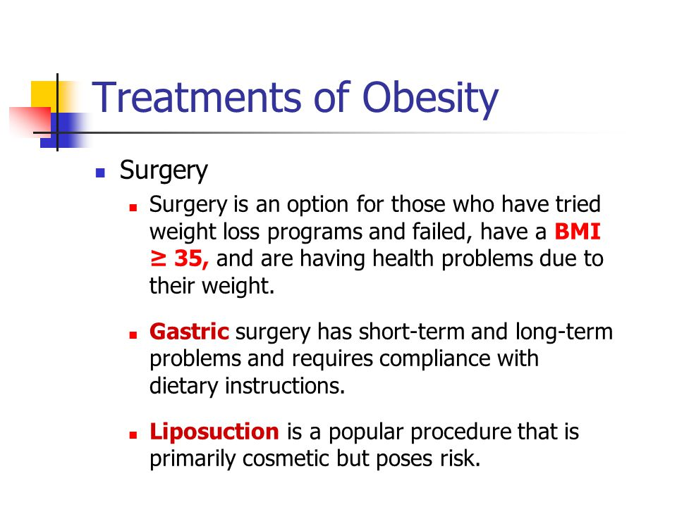 Treatments of Obesity Surgery