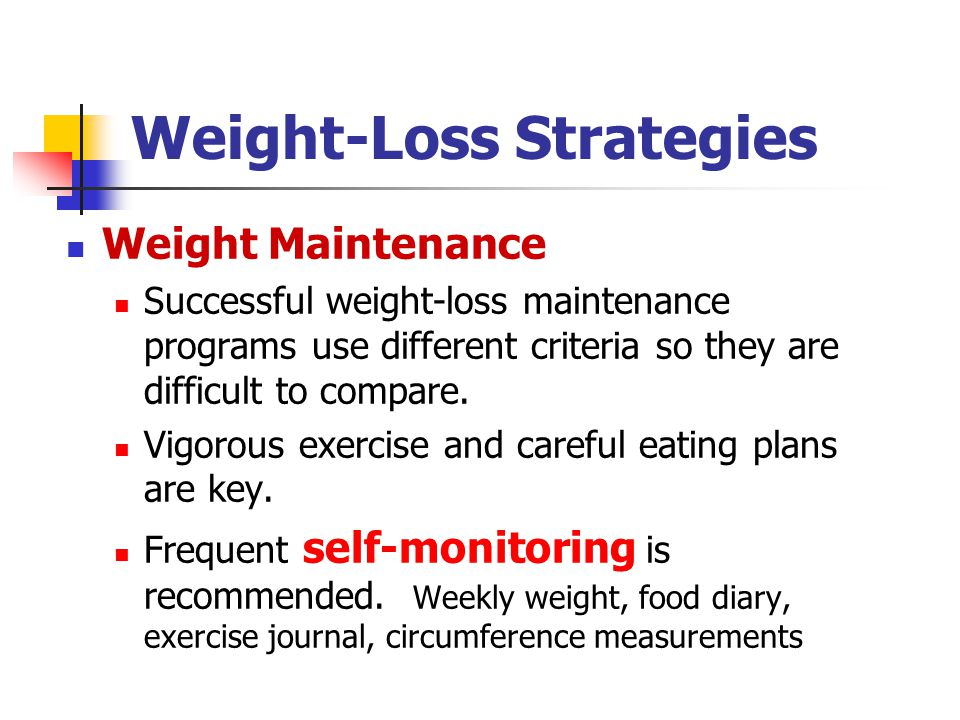Weight-Loss Strategies