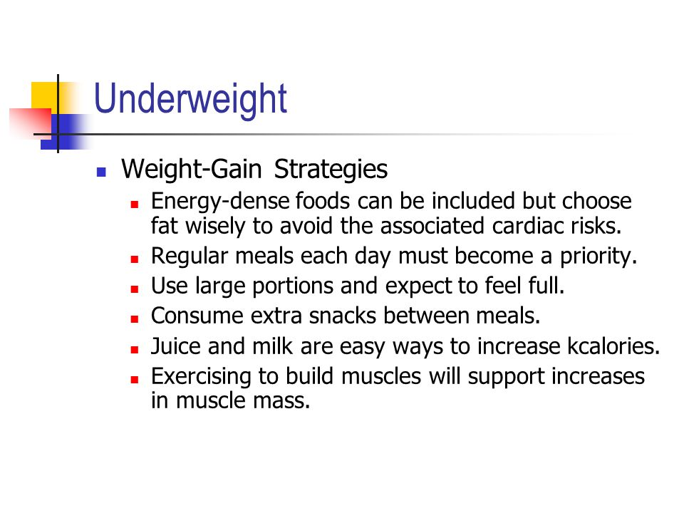 Underweight Weight-Gain Strategies