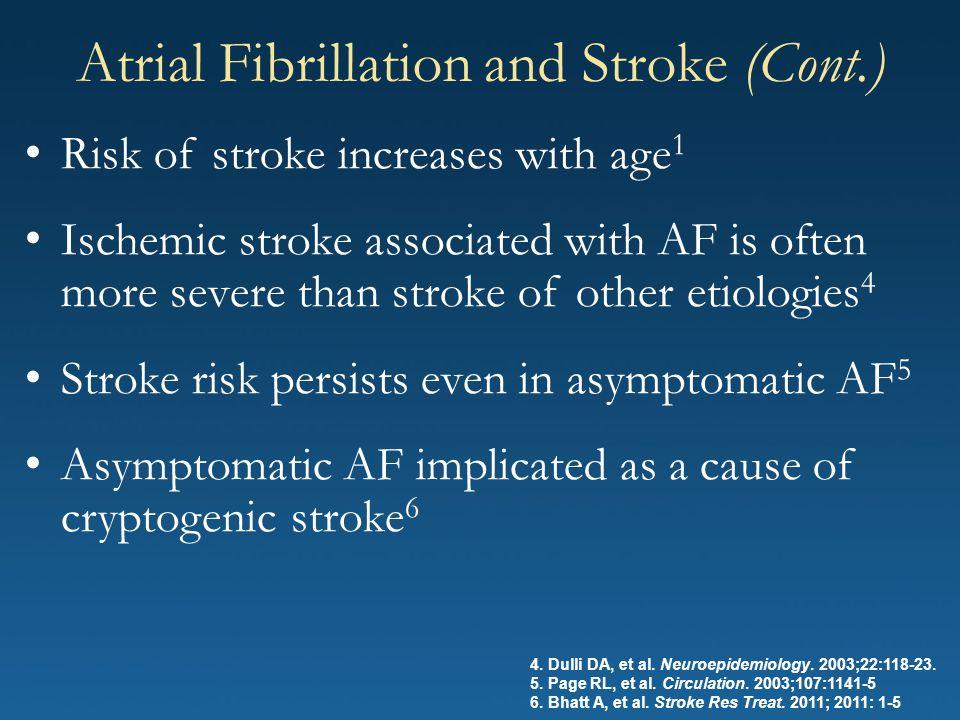 Atrial Fibrillation and Stroke (Cont.)