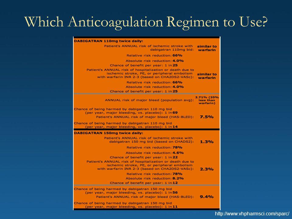 Which Anticoagulation Regimen to Use