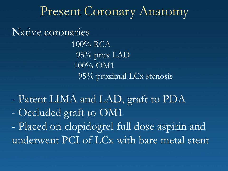 Present Coronary Anatomy