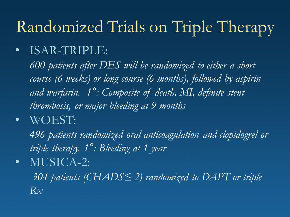 Randomized Trials on Triple Therapy