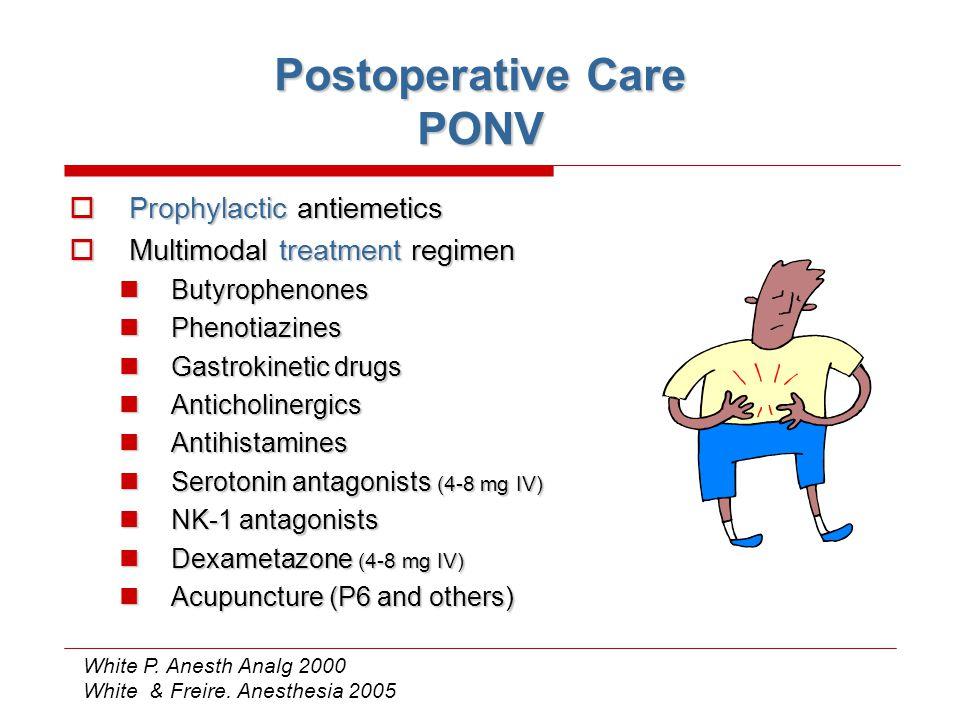 Postoperative Care PONV