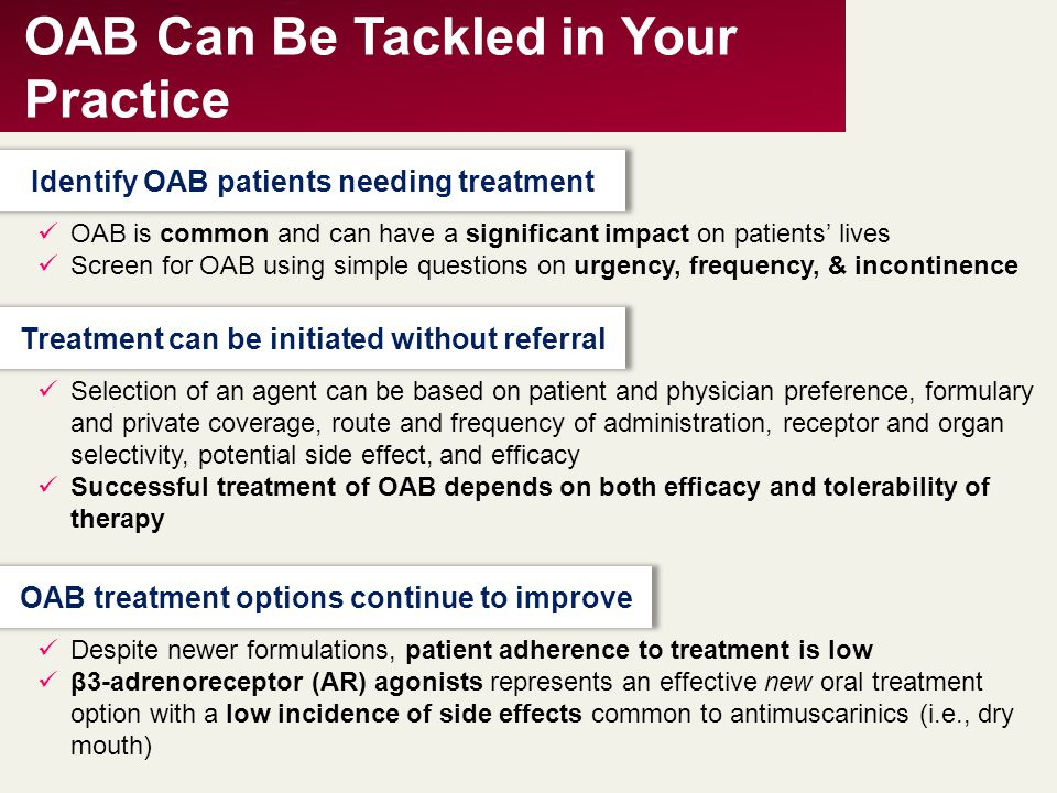 OAB Can Be Tackled in Your Practice