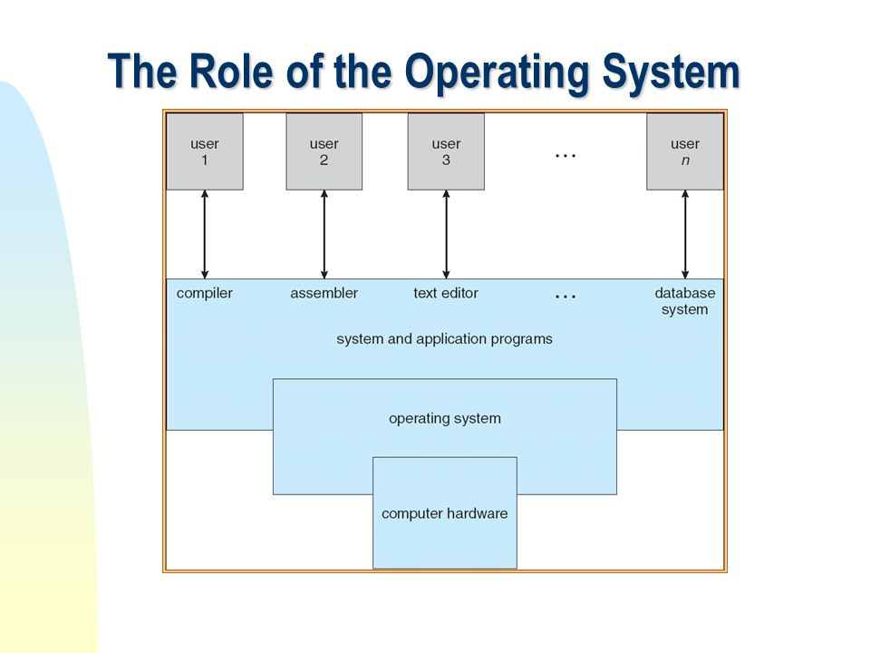 The Role of the Operating System