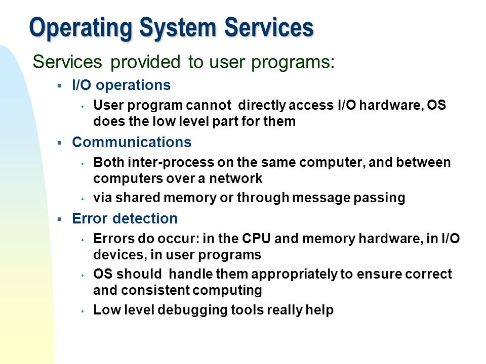 Operating System Services
