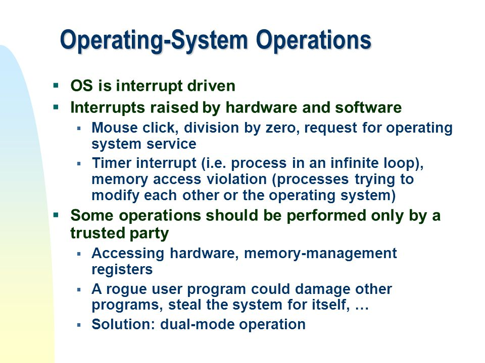 Operating-System Operations
