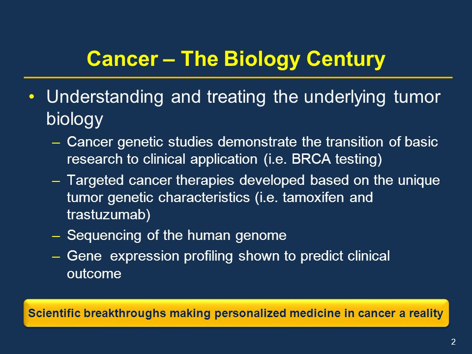 Cancer – The Biology Century
