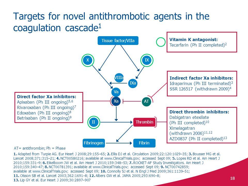 Targets for novel antithrombotic agents in the coagulation cascade1
