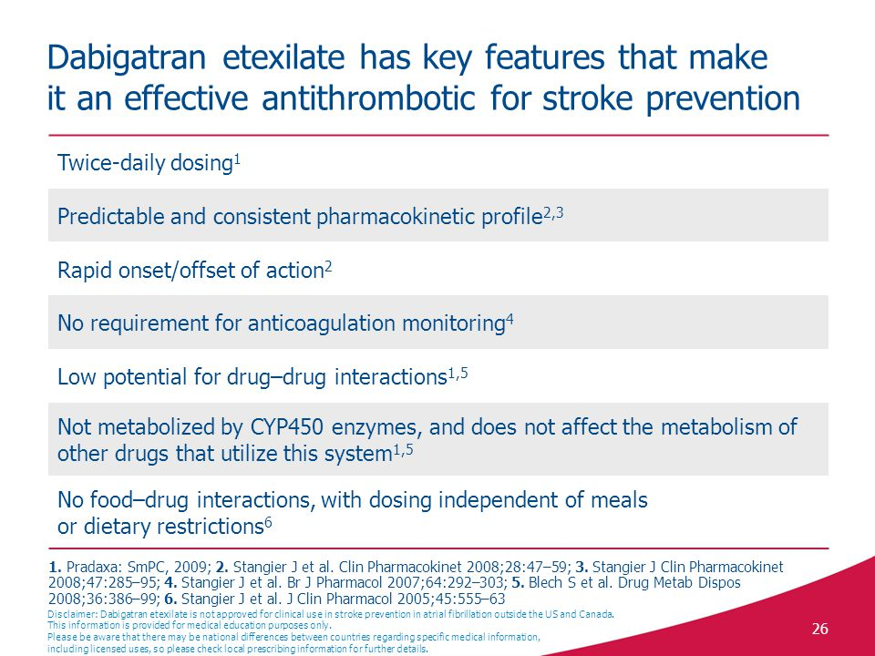 Dabigatran etexilate has key features that make it an effective antithrombotic for stroke prevention
